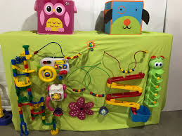 the busy board was a great success each of these toys get so much more use out in the open on this board than they ever did from a bin or box