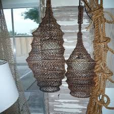 Decorative Fish Netting Create A Nautical Chandelier With A Fishing Net