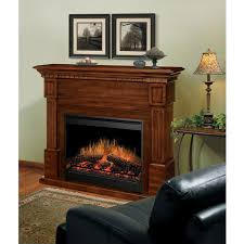 dimplex es electric fireplace burnished walnut in room