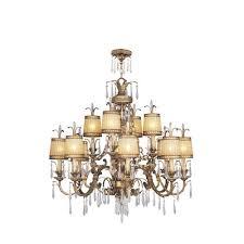 livex lighting la bella vintage gold leaf twelve light chandelier