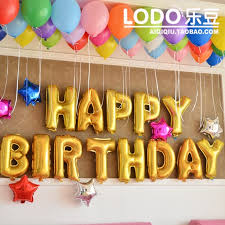 party supplies happy birthday party decoration balloons banner for intended for letter balloons party city