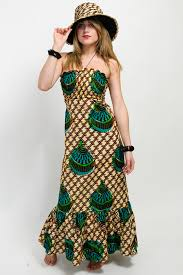 African Pattern Dress Simple African Print Tube Dress Long Authentic Design OneMama