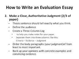 evaluation essays examples docoments ojazlink essay evaluation page