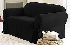 black couch slipcovers. Unique Black Amazoncom Green Living Group Chezmoi Collection Soft Micro Suede Solid  CouchSofa Cover Slipcover With Elastic Band Under Seat Cushion Black Home U0026  With Black Couch Slipcovers Amazoncom