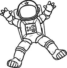Astronaut Coloring Pages Space Sheet In Get On And Spaceship