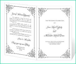 Wedding Program Templates Free Word Best Free Printable Wedding Program Templates Word For Wedding
