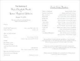 Wedding Reception Program Templates Wedding Day Program Template