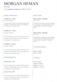 free cv layout free simple and basic cv templates in word land the job now