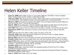 helen keller we are never really happy until we try to brighten  helen keller timeline