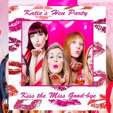 social media frame hen s party selfie frame