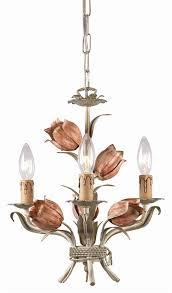 3 lights wrought iron mini chandelier