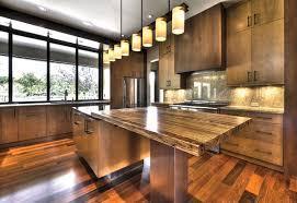 Wooden Kitchen Countertops Solid Wood Kitchen Countertops Gray Floor Tiles Mahogany Wood