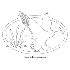 printable duck silhouette free scroll saw template
