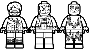 Small Picture Lego Spiderman and Lego Cyclops Lego Human Torch Coloring Book