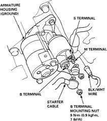 solved how to remove and install a starter on a 1998 fixya 96 Honda Accord Starter Wiring Diagram 1999 honda civic dx 1 6l mfi sohc 4cyl starter removal & installation 1996 honda accord wiring diagram