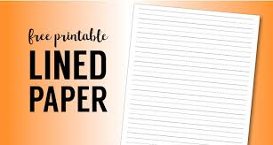 printable lined paper handwriting paper template paper   printable lined paper handwriting paper template