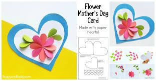 Homemade Card Templates Homemade Heart And Flower Card Craft For Kids Buggy And Buddy