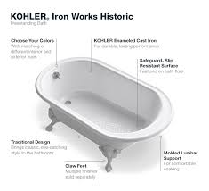 of kohler enameled cast iron drains 7104 7178 7158 and 7159 recommended for installation