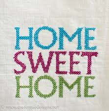 Small Picture Meringue Designs Cross Stitch Home Sweet Home