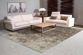 Arte Espina Shaggy Hochflor Teppich Uni Wohnzimmer Teppiche Beige Taupe Grau