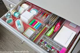 Organizing Drawers Enchanting Remodelaholic Quick Tricks For Organizing Desk Drawers