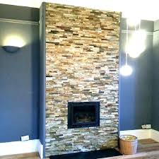 natural stone tile fireplace surround