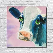 2018 for animal paintings home decor living room wall pictures cow oil painting on canvas decor pictures no framed from dafenoilpaintingyeah