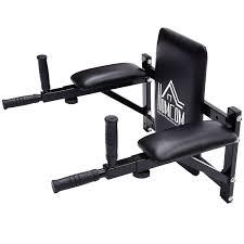 hom gym rack dip station wall mounted ab knee leg raise pull up