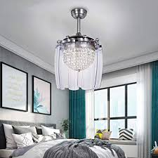 bedroom ceiling fans with remote control. Unique Control Tropicalfan Crystal Retractable Ceiling Fan With Remote Control LED Home  Decoration Dinner Room Bedroom Silent Modern On Fans N