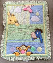 Disney Baby Winnie The Pooh Peek A Boo Baby Blanket Quilt With ... & Disney Baby Winnie The Pooh Peek A Boo Baby Blanket Quilt With Ruffle 37 X  46 Adamdwight.com