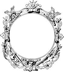OnlineLabels Clip Art Ornate Frame 10