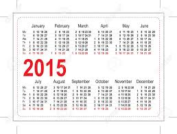 Calendar Format 2015 Template Pocket Calendar 2015 Illustration In Vector Format