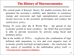 introduction to macroeconomics lecture 1 презентация онлайн guarantee the economy s stability and therefore to counteract slumps and recessions and high unemployment government