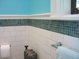 mosaic tiles t wall trim accent bathroom tile white