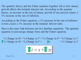 the quantity theory and the fisher equation together tell us how money growth affects the nominal