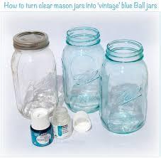 "Ball Jar Decorations DIY ""Vintage"" Blue Mason Jars The Little GSP 54"