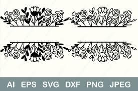 Happy birthday clip art flowers corner flower clipart purple corner flower clip art. 59 Flower Border Svg Designs Graphics