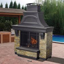sunjoy amherst 35 in wood burning outdoor fireplace new outside wood burning fireplace garden treasures brown
