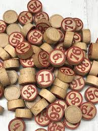 Wooden Game Tokens Cool Vintage Bingo Tokens 32 With Numbers Lotto Wooden Game Etsy
