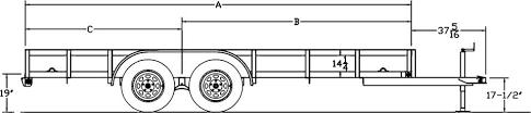 Utility Trailer Weight Chart Big Tex Trailers 50la Tandem Axle Angle Iron Utility Trailer