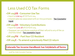 Colorado State Tax Chart Colorado State Taxes Keith Hamlyn Ppt Download