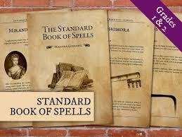 printable book of spells standard book of spells grades 1 2 harry potter print