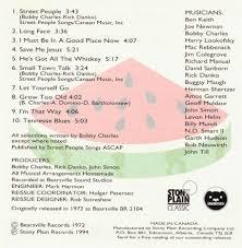Cd Song List Bobby Charles Bobby Charles