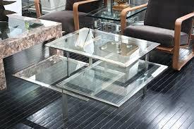 chrome and glass coffee tables 3 level glass chrome coffee table toronto