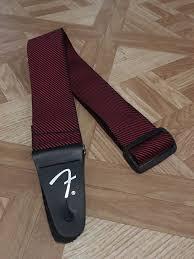 fender guitar strap black and red