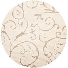 round area rugs safavieh florida cream beige 5 ft 5 ft round area rug sg455