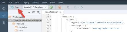 Consume the API Proxy in SAP Web IDE