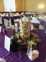 Wine Inspired Wedding Ideas | wine themed wedding centerpiece... just hide  any candle