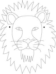 lion face drawing for kids. Beautiful Face Lion Mask Printable Coloring Page For Kids Draw Ur Own Or Print These  Diff Animal Masks Kids Can Color And String Them To Wear On Face Drawing For Kids E