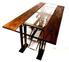 glass top wood dining table. full image for round glass top wood dining table rectangular base custom